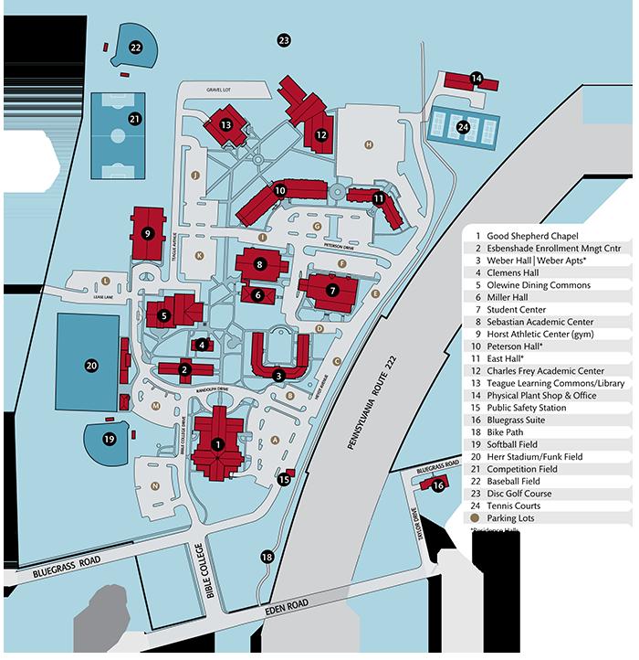 LBC Lancaster campus map.