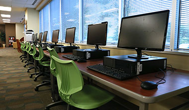 LBC library computers.
