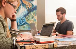 Undergrad students studying.