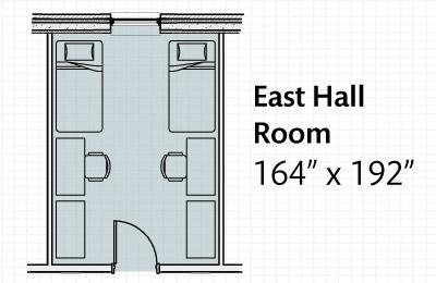 Dormitory East Hall map.