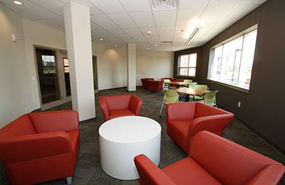 Student dormitory common room.