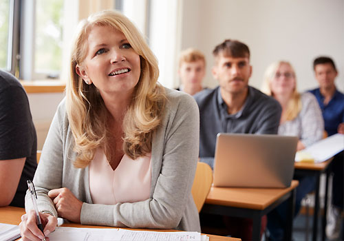Adult Learners in a classroom
