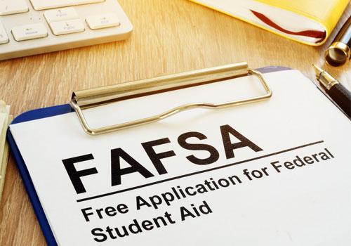 FAFSA Form for financial aid