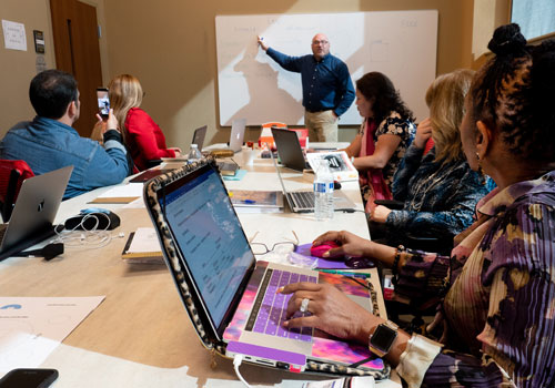 Provost Dr. Dearborn teaches a Doctoral cohort
