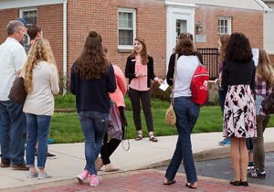 Students enjoy an open house tour of Lancaster Bible College