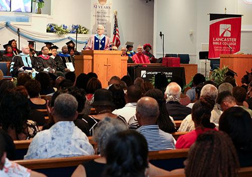 Lancaster Bible College graduation at Philadelphia location