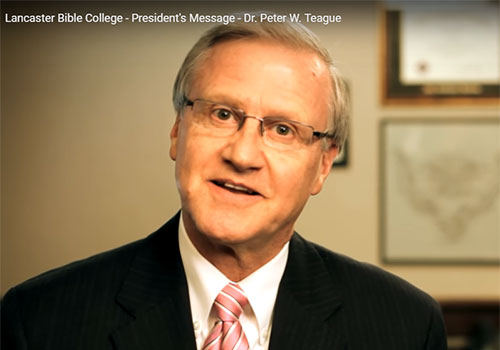 Dr. Peter W. Teague's thoughts on LBC's student experience.