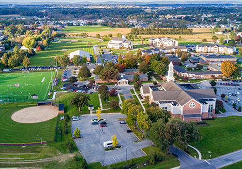 View of the Lancaster Bible College campus.