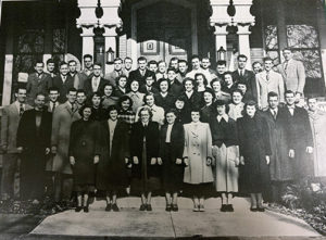 This photo features all of the day students of the Lancaster School of the Bible in 1951.