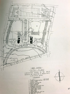 The Lancaster School of the Bible moved from Lancaster City to Eden Road in 1958, and the above picture shows the original campus plan.
