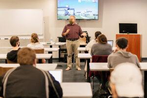 Dr. Ed Scheuerman teaching