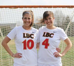Ellie and Annie Hoover on lacrosse team