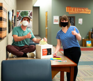 students initiating the written care campaign