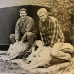 Bruce Kumher (right) and Lance Loken got the pigs ready for the annual pig roast during the 1986-87 school year.