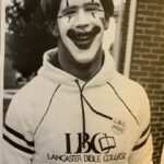 Junior Scott Stoner sports a clown face along with a fantastic 1980s LBC hoodie.