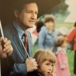 The 1988 yearbook was dedicated to Dr. Ray Naugle. Here he is at Homecoming in 1987 with his daughter, Julia. Dr. Julia Hershey is now Chair of the Education Department at Lancaster Bible College.