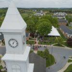 Birds eye view of LBC graduation ceremony.