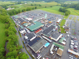 aerial photo of the green dragon market