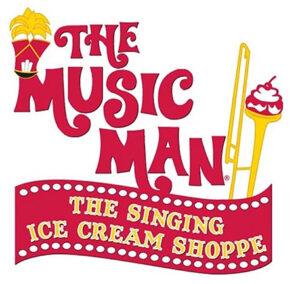 The Music Man Singing Ice Cream Shoppe logo