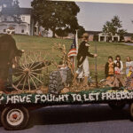 The 1975-76 academic year featured a patriotic parade during Homecoming, as the college helped honor the country's bicentennial.