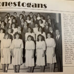 A singing group that has been featured several times on this blog, the Conestogans, look their best during the 1985-86 academic year.
