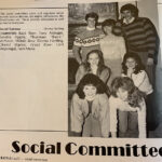 Seven students made up the 1986 Social Committee. According to the yearbook, this group planned dinners, skit nights, roller skating events, the semiformal and more.