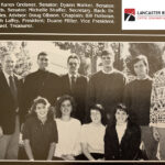 The 1991 Sophomore Student Government featured nine members and advisor Dr. James DeVries.
